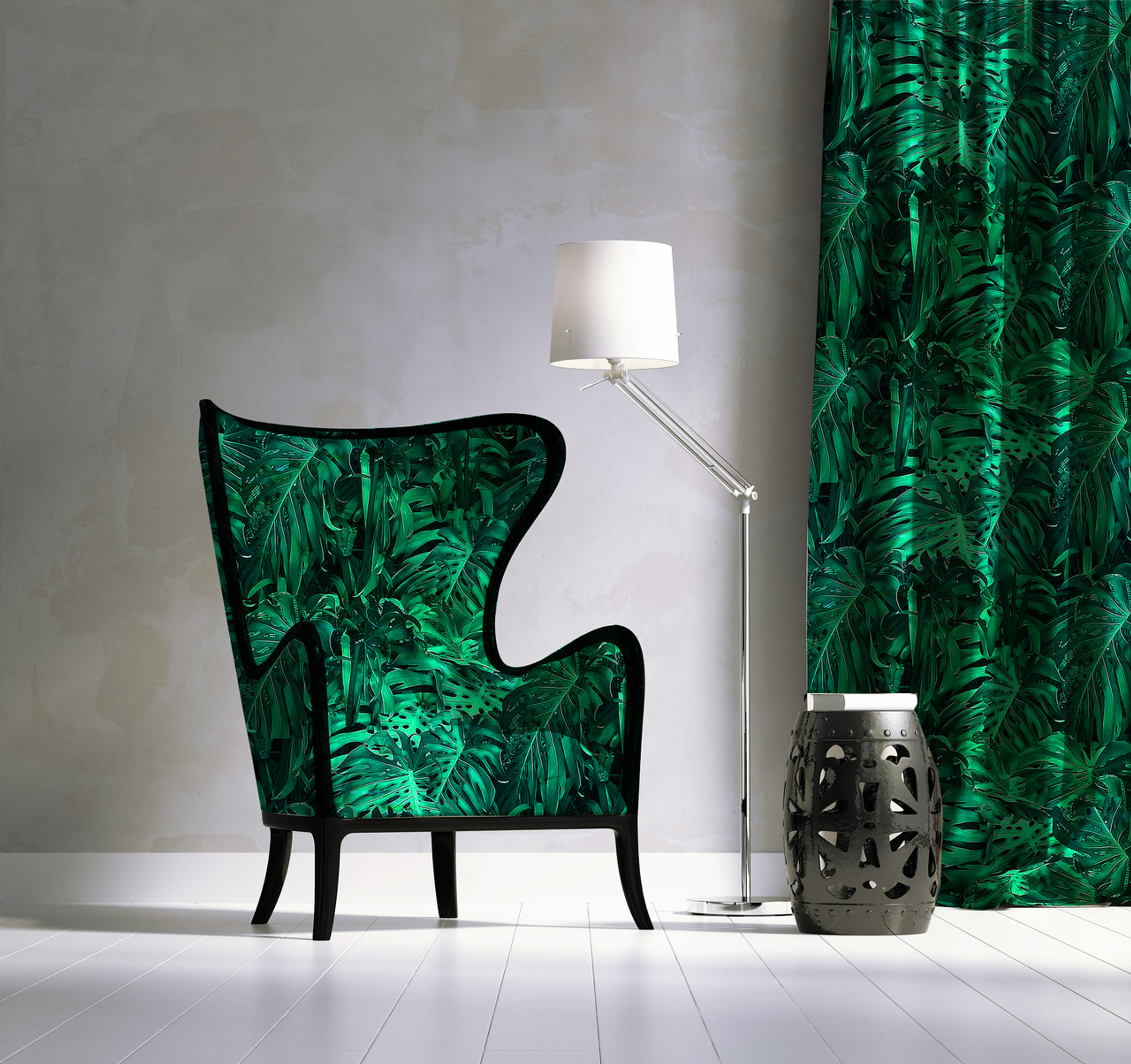 Fabric - Jungle Vibe - Metallic Green