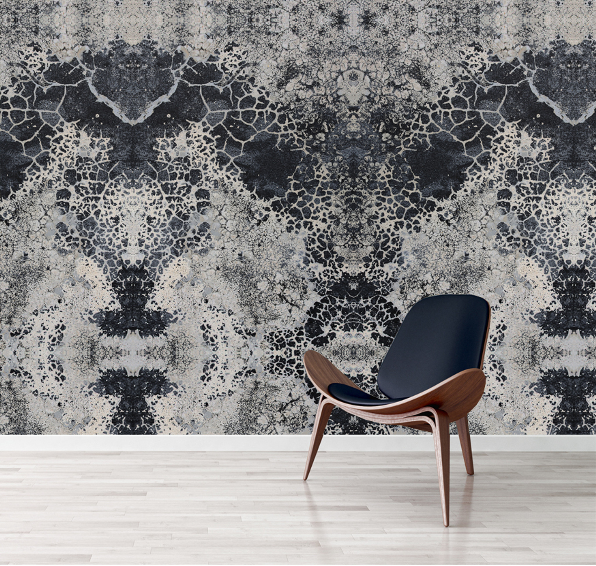 Wallpaper - Honeycomb Blues