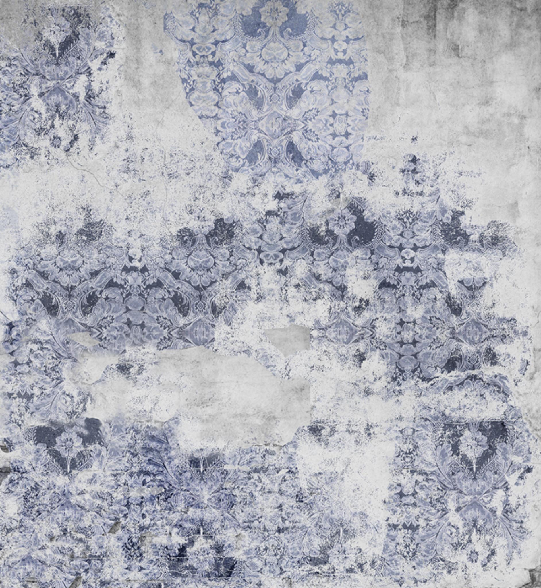 Wallpaper - Damaged Goods in Blue