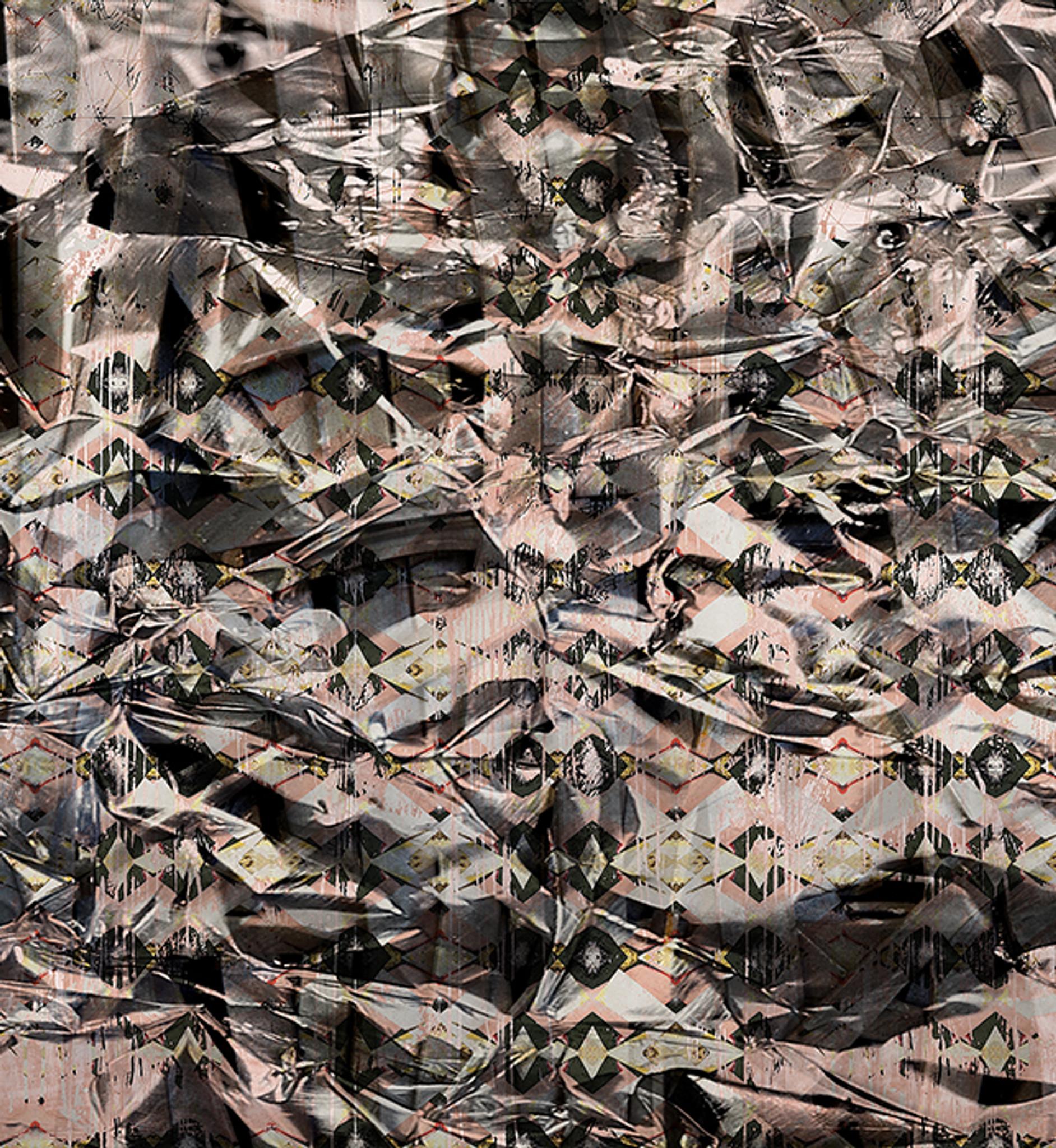 Wallpaper - Squashed Tin - Pink Diamond