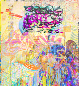 Fabric -  Graffiti Yum Yum