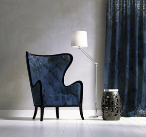Fabric - Damask - Inky