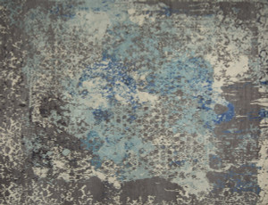 Damask in Distress - Hand Knotted Rug