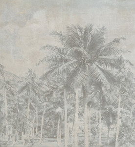 Wallpaper - Tropical Palms - Faded