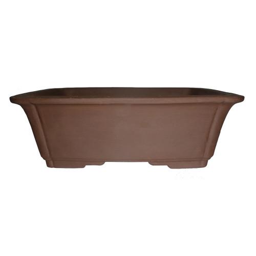 "10"" Unglazed Ceramic Rectangle Bonsai Pot - CUPG58-10"