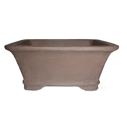 "8"" Unglazed Ceramic Rectangle Bonsai Pot - CUPG93-8"
