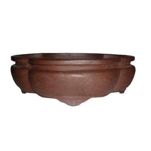 "12"" Unglazed Ceramic Lotus Bonsai Pot - CUPI3-12"