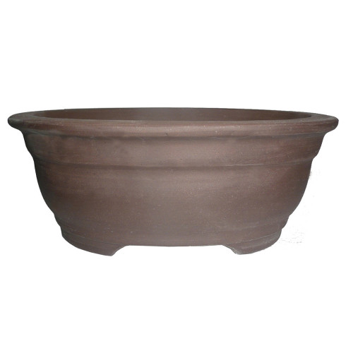 "10"" Unglazed Ceramic Oval Bonsai Pot - CUPO38-10"