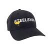 SteelShad Hat - Black Twill - White Logo/Yellow Lure