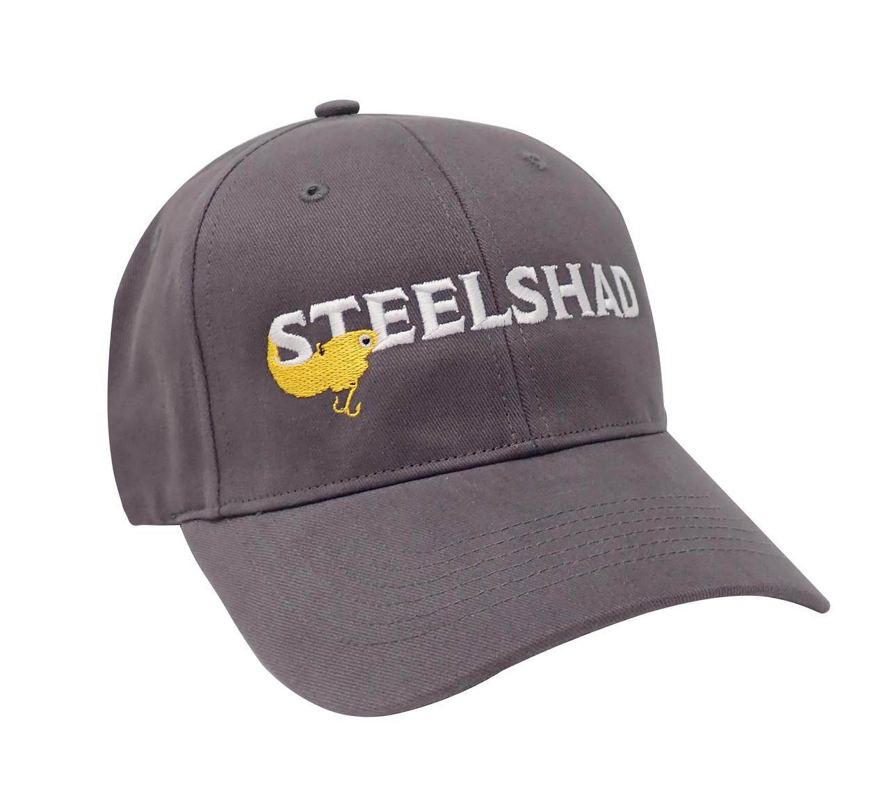 SteelShad Hat - Gray Twill - White Logo/Yellow Lure
