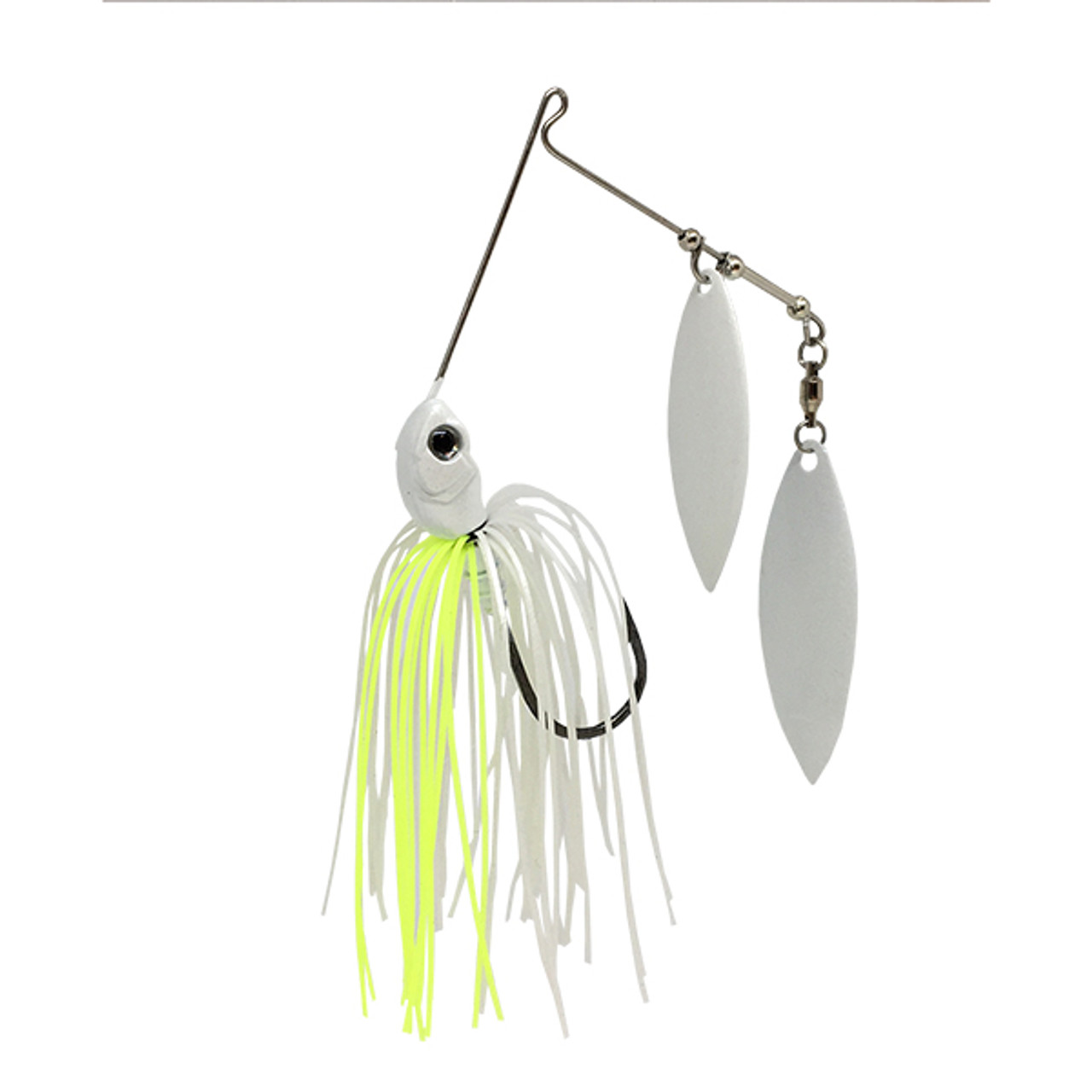 SteelShad Spinnerbait - Double Willow Blade - White & Yellow