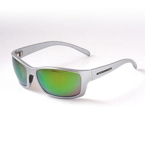 Breakline Polarized Cahaba - Jim Root Edition- Metallic Frame/Green Mirror Lens Sunglasses