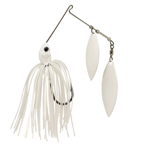 SteelShad Spinnerbait - Double Willow Blade - White