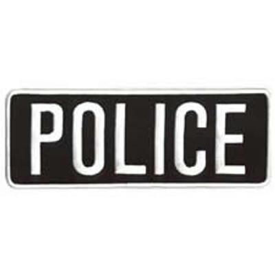 """Police Back Patch 9x3"""""""