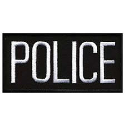 """Police Front Patch 4x2"""""""
