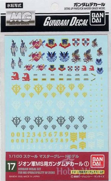 Gundam Decal 017 - Principality of Zeon