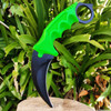 "7.5"" Zombie Fixed Blade Tactical Karambit Hawkbill Neck Knife Skinner Hunting"