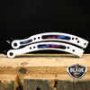 CSGO BUTTERFLY GALAXY WHITE BALISONG TRAINER KNIFE