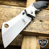 "8"" TACTICAL Spring Assisted Open Pocket Knife CLEAVER RAZOR Silver FOLDING Blade"