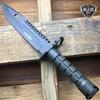 "13"" Bayonet Military Tactical Survival Hunting Knife Fixed Blade Rambo Army"