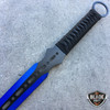 "28"" BLUE NINJA SWORD Full Tang Machete Tactical Blade Katana 2PCS Throwing Knife"