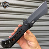 """10"""" HUGE CLEAVER BALL BEARING Assisted Pocket Folding Knife RAZOR Blade BLACK"""