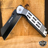 "8"" TACTICAL Spring Assisted Open Pocket Knife CLEAVER RAZOR FOLDING Blade New"