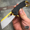 "7"" TACTICAL Assisted Open Pocket Knife CLEAVER RAZOR FOLDING Blade + Carabiner"