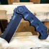 "9"" HUGE CLEAVER BALL BEARING Assisted Pocket Folding Knife RAZOR Blade NEW"