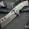 TACTICAL Spring Assisted Open Pocket Knife CLEAVER RAZOR FOLDING Blade NEW