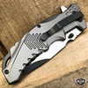 """8.25"""" USMC Marines Military Spring Assisted Open Tactical Folding Pocket Knife"""