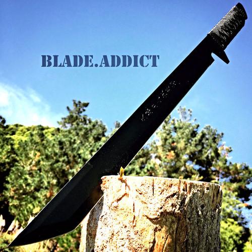 "18"" HUNTING NINJA MACHETE KNIFE MILITARY TACTICAL SURVIVAL SWORD CAMPING COMBAT"
