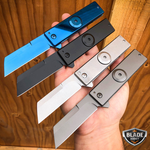 "7"" Military Tactical FIDGET SPINNER Cleaver Razor TANTO Folding Pocket Knife NEW"