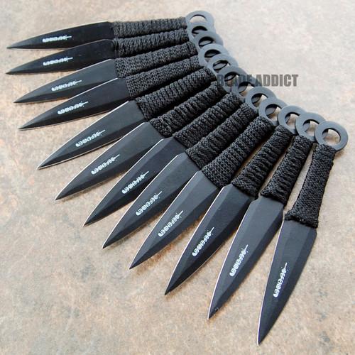 12 Pc 6 Quot Ninja Tactical Combat Naruto Kunai Throwing Knife