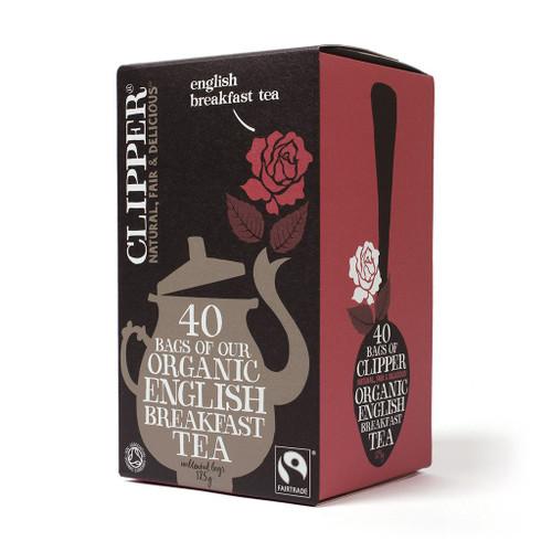 Clipper Fairtrade Organic English Breakfast 40 bags 125g