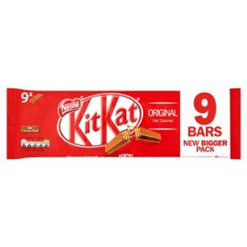 Nestle KitKat 2 Finger Milk Chocolate Biscuit Bar 9 Pack 9x20.7