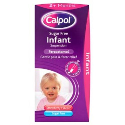 Calpol Infant Paracetamol Suspension 2+ Months Sugar Free Strawberry Flavour