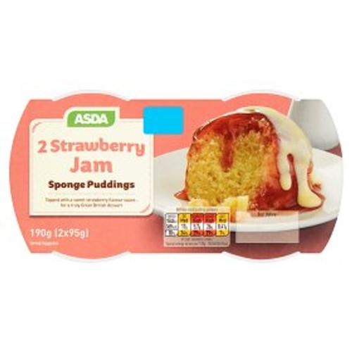 ASDA Strawberry Jam Sponge Puddings 2x95g
