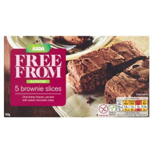 ASDA Free From 5 Brownie Slices 5x36g