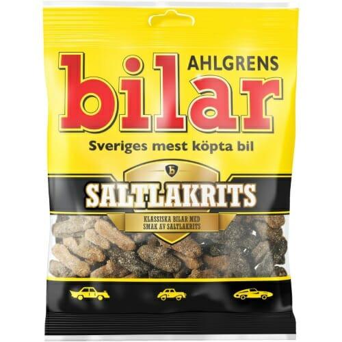Ahlgrens Bilar Saltlakrits – Salty Liquorice Cars 100g