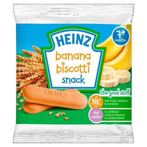 Heinz 7 Mths+ Banana Biscotti Biscuits 60g