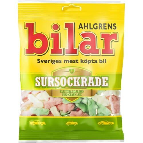 Ahlgrens Bilar Sursockrade – Sour Sweets 100g