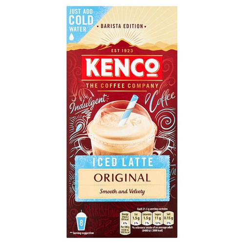 Kenco Instant Iced Latte 8X21.5G