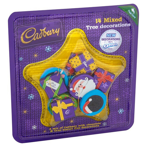 Cadbury 14 Chocolate Tree Decorations 136g
