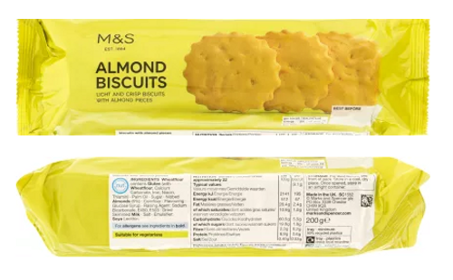 Marks and Spencer Almond Bicuits