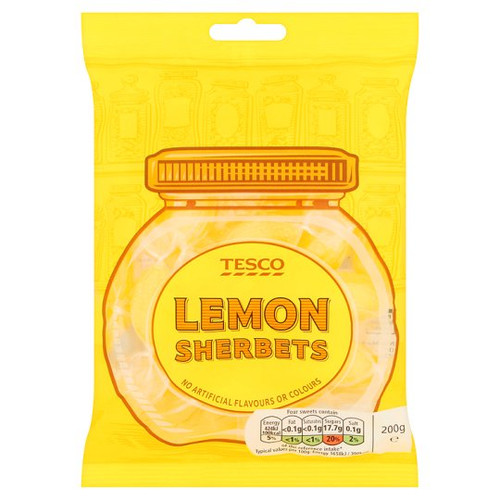 Tesco Lemon Sherberts  200g