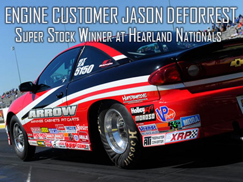 Patterson Elite Engine Customer Jason DeForrest Wins Super Stock at the Menards NHRA Heartland Nationals