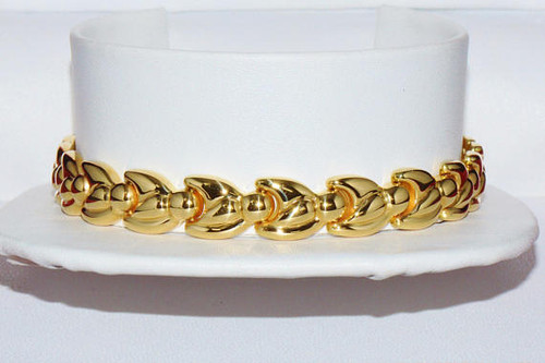 Authentic 18K 750 Solid Gold Italian Milor Chain Link Bracelet
