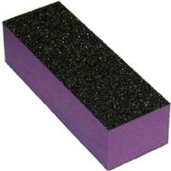 3 Way Purple & Black Nail Buffer