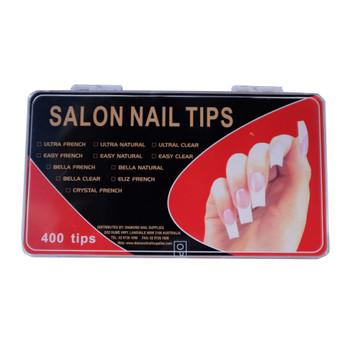 Salon Nail Tips Clear 400pc